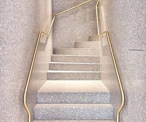 stairs, glitter, and gold image
