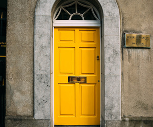 place, yellow, and yellow door image
