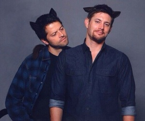 cat, supernatural, and Jensen Ackles image