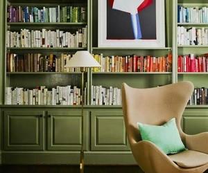 books, interior decor, and library image