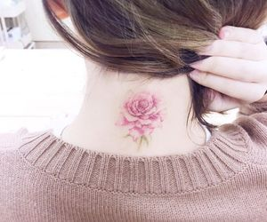 flowers, pink, and tattoo image