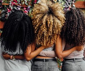 blonde hair, women, and afro hair image