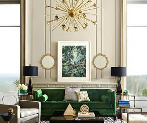 living room, elegant decor, and home decor image