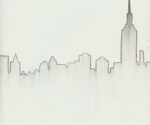 city, art, and drawing image