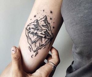 tattoo, mountains, and iceberg image