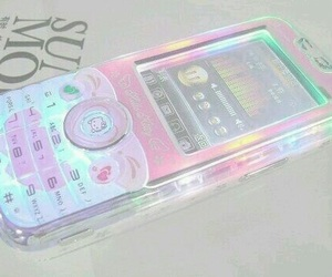 phone, pink, and pastel image