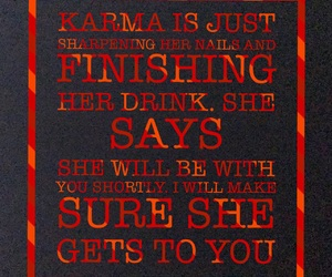 karma, life, and quotes image