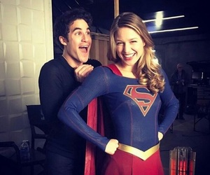 Supergirl, darren criss, and melissa benoist image