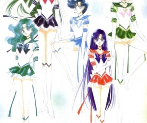 sailor moon, sailor mars, and sailor neptune image