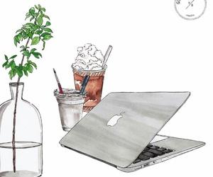 apple, bottle, and illustration image
