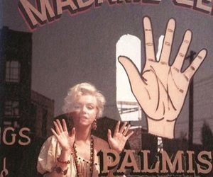 Marilyn Monroe, vintage, and palms image