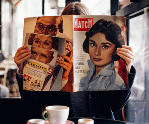 vintage, coffee, and girl image