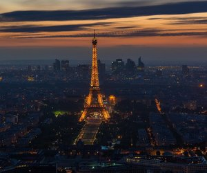 city, cityscape, and eiffel tower image