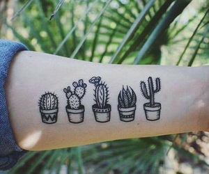 tattoo, cactus, and arm image