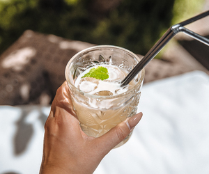 coctail, drink, and ice image