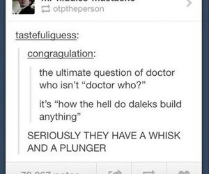 doctor who, funny, and tumblr image