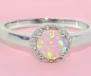 pink, ring, and pastel image