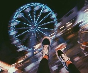 vans, night, and light image