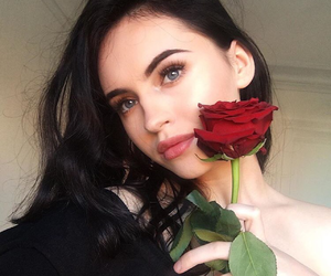 girl, rose, and icon image