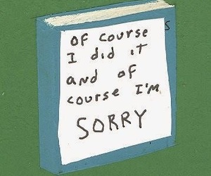 apology, book, and blue image