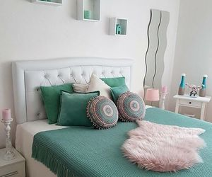 bed room, decor, and love image