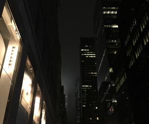 dark, city, and night image