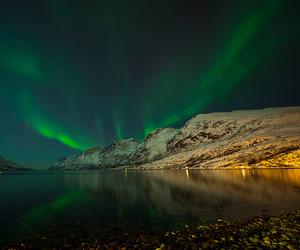 adventure, aurora borealis, and fjord image