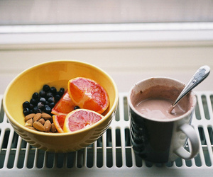 food, fruit, and nuts image