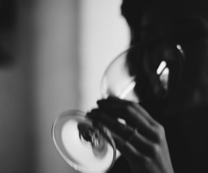 black and white and wine image