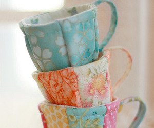 crafts, shabby chic, and cups image