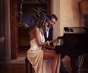 couple, love, and piano image