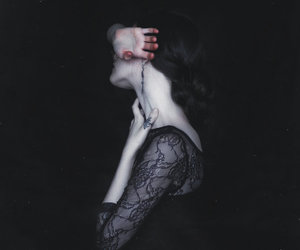 black, girl, and pale image