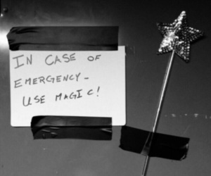 emergency, magic, and text image