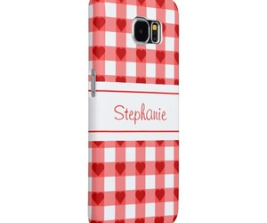 gingham, hearts, and samsung galaxy s6 case image