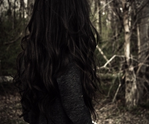 hair, girl, and brunette image