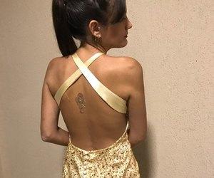 dress, ponytail, and fashion image