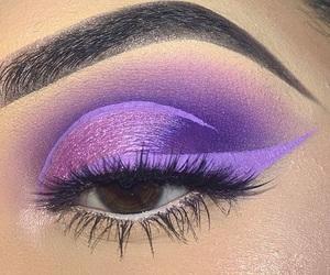 art, eyes, and lavender image