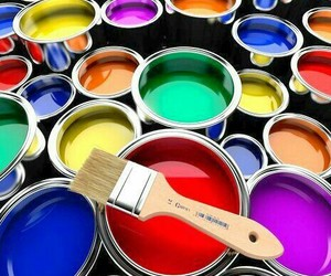 colors, paint, and paintings image