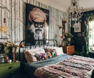 bedroom, boho, and india image