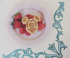 breakfast, disneyland, and mickey mouse image