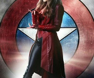 captain america, civil war, and elizabeth olsen image