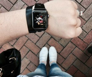 disneyland, minnie mouse, and apple watch image