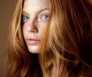 girl, redhead, and beautiful image