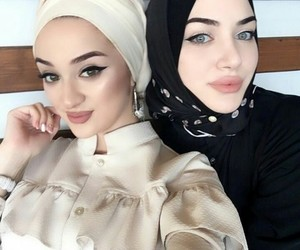 hijab, russian, and muslim image