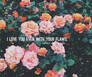 flowers, I Love You, and inspirational image