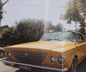 car, aesthetic, and yellow image