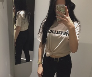 H&M, Nude, and tumblr outfit image