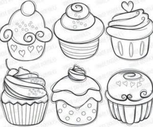 art, cupcake, and illustration image