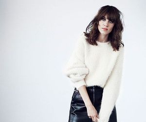alexa chung, leather, and boots image