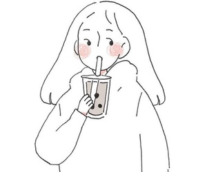 tumblr, coffe, and draw image